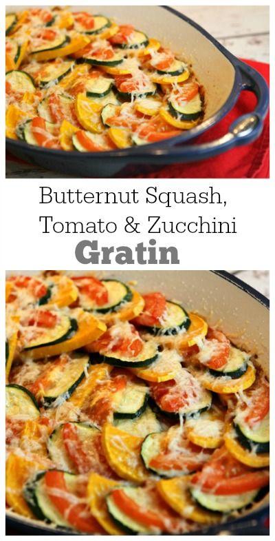 Butternut Squash, Zucchini and Tomato Gratin   Recipe   We, Squashes ...