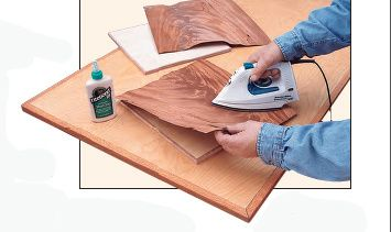 Applying Unbacked and Sliced Veneer Sheets with Yellow Wood Glue