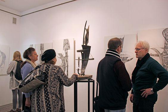 Открытие персональной выставки Петра Торопова в Калининграде. Фото Жени Шведы