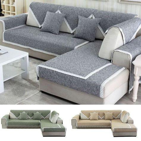 1pc Slipcover Sofa Seat Slip Cover Sectional Corner Couch Covering Protector Com Imagens Decoracao Para Sofa Capa De Sofa