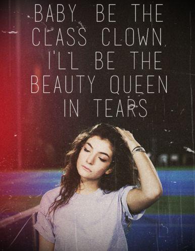 Lorde Lyrics - TENNIS COURT  via http://thisgirlai.tumblr.com/