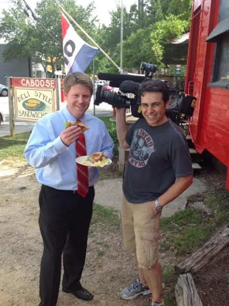 CBS46 visits The Caboose in Rutledge to honor them with 17 years of continuous A ratings!