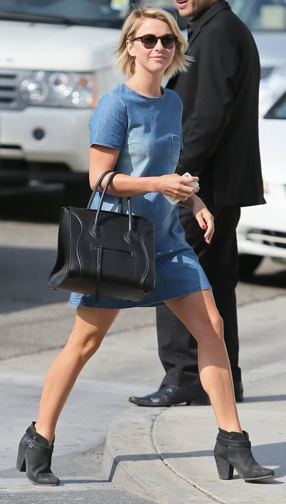 """I love this outfit! {Topshop dress, Celine purse, and Rag & Bone """"Harrow"""" Boots}"""