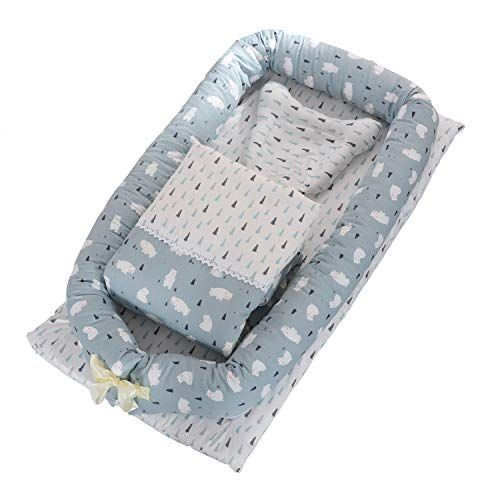 Doldoa Baby Bassinet For Bed Portable Baby Lounger For Newborn 100