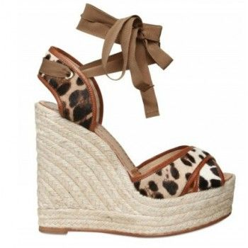 Dolce & Gabbana - 130mm Ponyskin And Leather Wedges