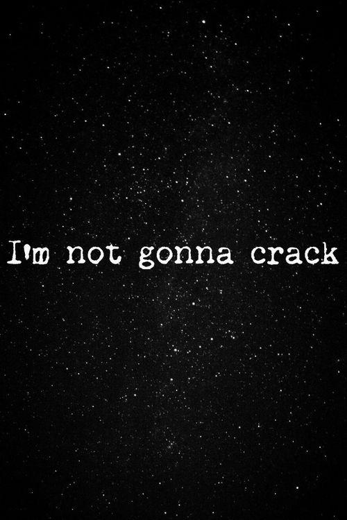 I'm not gonna crack. Lithium. <3 Nirvana---i LOVE running to this jam.