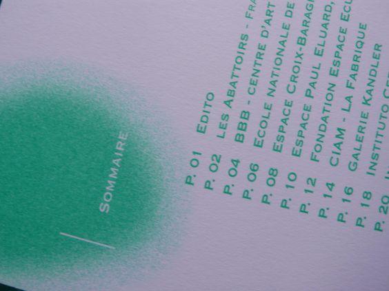 Intérieur de la brochure Graphéine