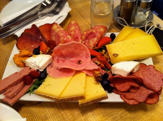 Austrian Cheese and Meat Platter: