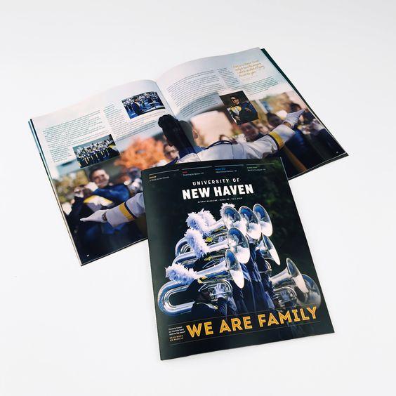 Fall 2018 Issue Of The University Of New Haven Alumni Magazine Logo Design Website Design Digital Marketing