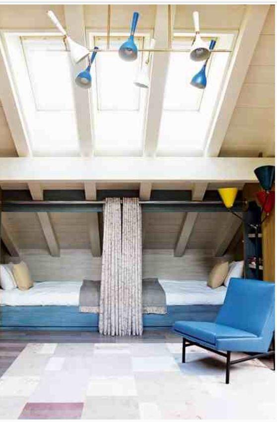 Alternative to bunk beds.  Way more fun!