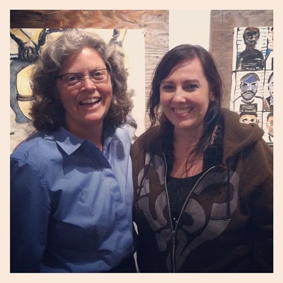 State Representative Laurie Jinkins and Tacoma ART BUS Coordinator Angela Jossy at Brick House Gallery.