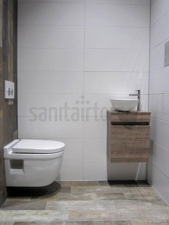 Landelijk badkamermeubel hout steigerhout meubel badkamer waskommen badkamer tegels - Tegel badkamer hout ...