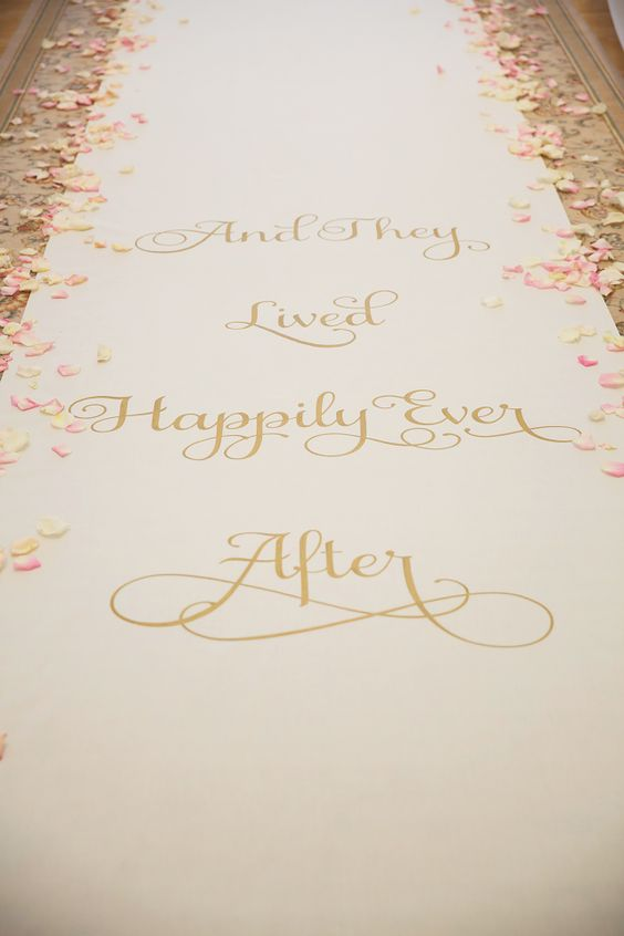 happily ever after aisle runner, photo by vitalicphoto.com