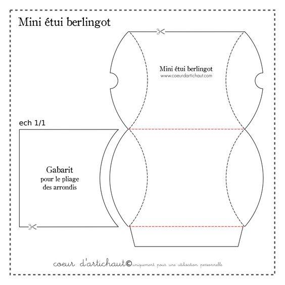 gabarit tui berlingot tuto papiers papers diy pinterest bo tes et minis. Black Bedroom Furniture Sets. Home Design Ideas