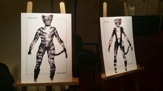 Sketchs originaux des costumes de Cats par John Napier