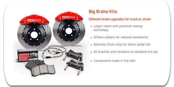 StopTech Big Brake Kits. Ultimate brake upgrades for track or street. #carpornracing #stoptech
