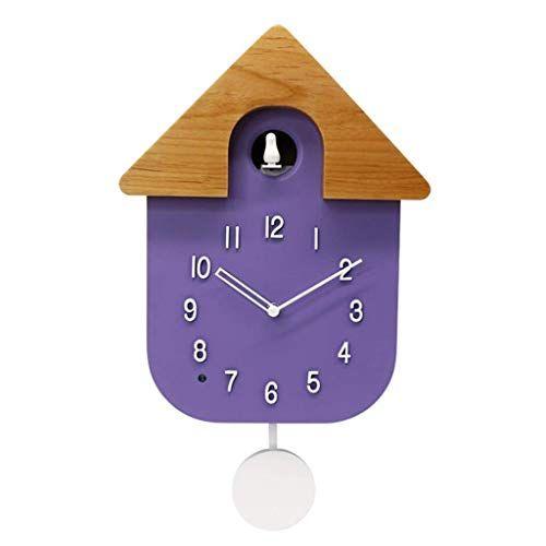 Ranranjj Modern Cuckoo Clock Cuckoo Call Design Clock Pendulum Simple Fashion Home Light Wall Clock S In 2020 Modern Cuckoo Clocks Wall Clock Light Wall Clock Simple