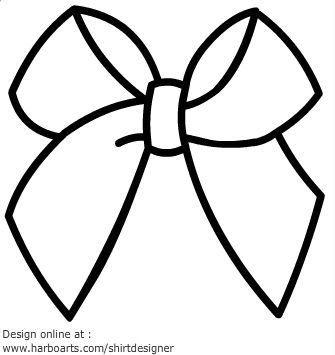 Ribbon bow outline Coloring Pages Pinterest Tags Blog And