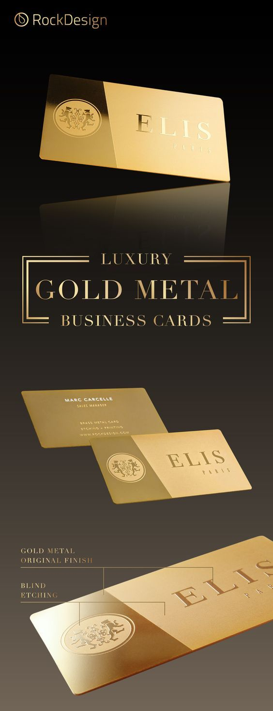 Luxury Modern Gold Metal Card Elis Metal Business Cards Free Business Card Templates Luxury Business Cards