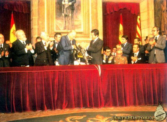 Josep Tarradellas y Adolfo Suárez - Obra - ARTEHISTORIA V2