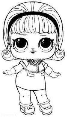 Desenhos Para Colorir Boneca Lol A Febre Do Momento No Lol Dolls Coloring Pages Cute Coloring Pages