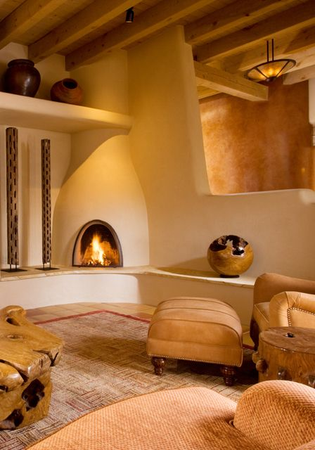 Kiva Fireplace And Plaster Walls Fireplaces Pinterest