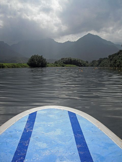 Paddleboarding the Hanalei River