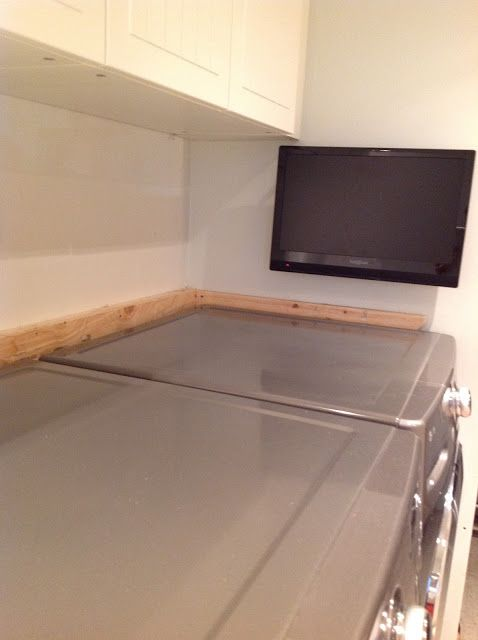 How To Support A Laundry Room Countertop Over Washer And
