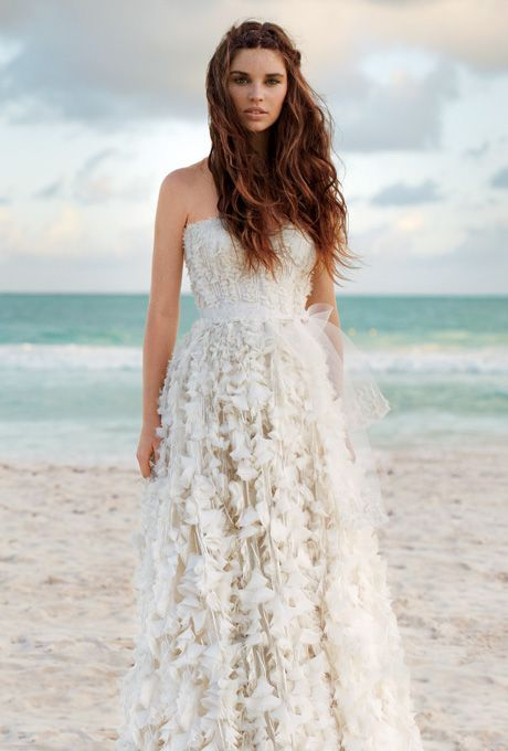 Perfect dress for a beach wedding.