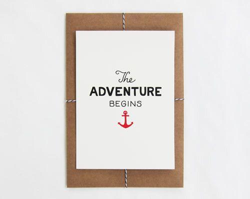 Image of The Adventure Begins Print