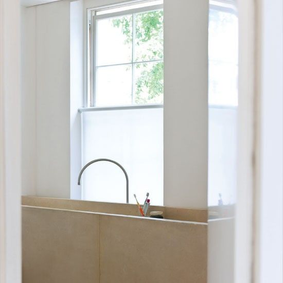 Be inspired by a minimal white home. BATHROOMS    Interior of the Knokke Apartment by John Pawson