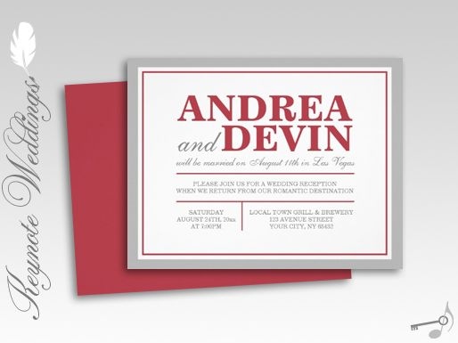 Wedding Invitation Wording Casual Reception Only Matik for