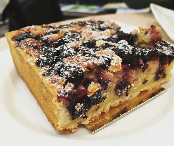 Torta de cassis na Borgonha