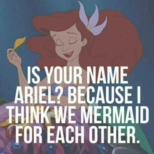 Little Mermaid fans: This pick-up line is for you!