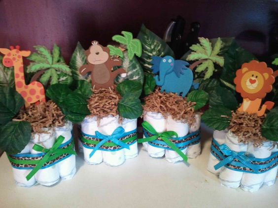 Diaper cakes for baby shower