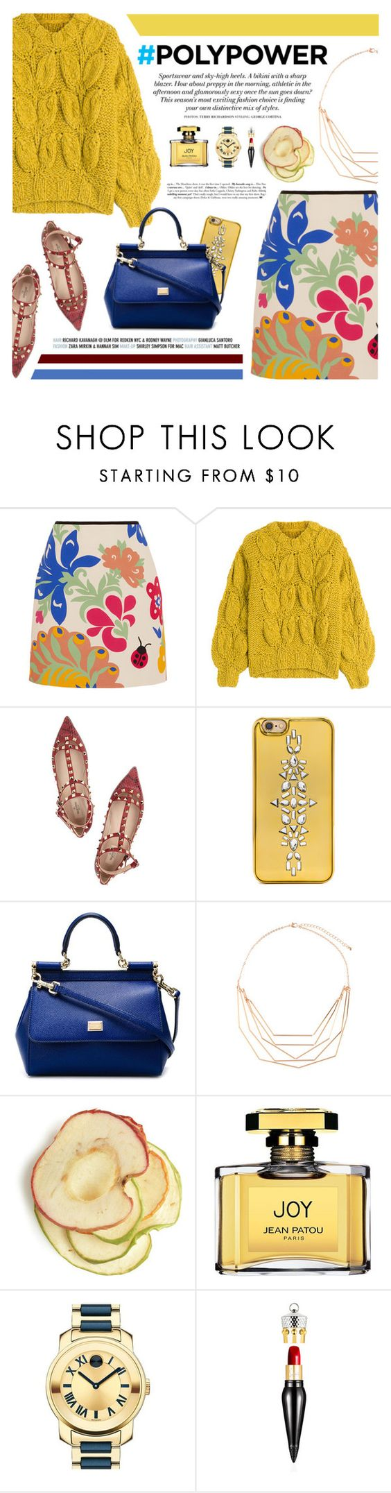 """#POLYPOWER"" by defivirda ❤ liked on Polyvore featuring Victoria, Victoria Beckham, Maison Margiela, Valentino, BaubleBar, Dolce&Gabbana, Accessorize, H&M, Jean Patou, Movado and Christian Louboutin"