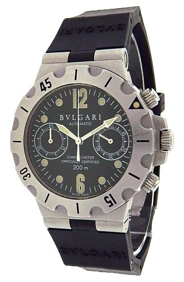 Bvlgari Diagono Scuba Chronograph SC38S Stainless Steel Men's Watch