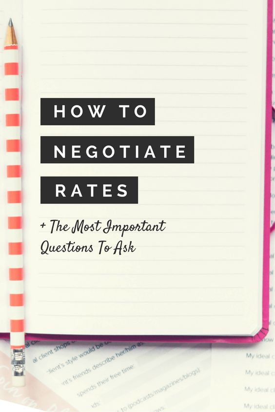 How to negotiate your rates? 7 questions that you need to ask by Julie Solomon - Social Media, Branding and Blogging Specialist.