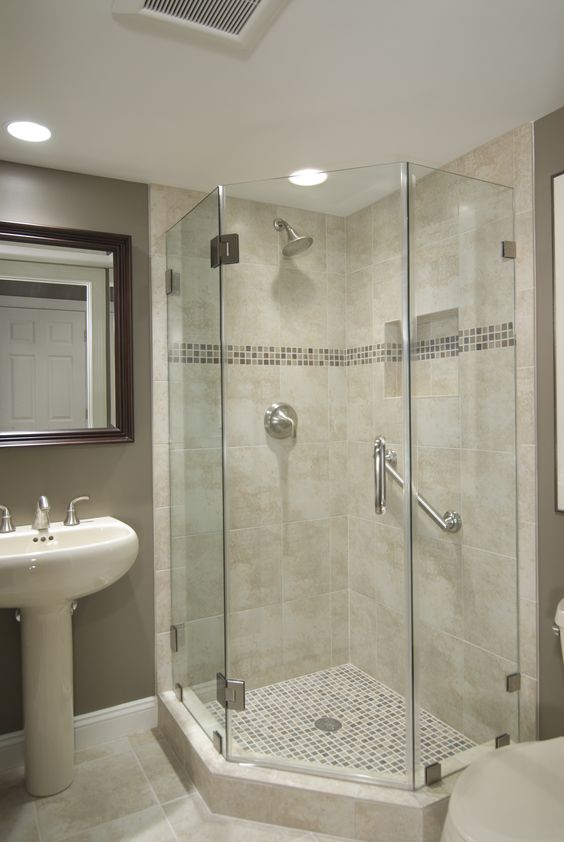 Basement Bathroom Ideas On Budget  Low Ceiling and For Small Space Check It Out Corner bathroom ideas