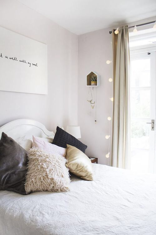 Imagem de bedroom, home, and bed