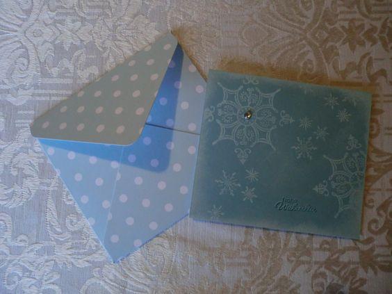 Serene Snowflakes Stampin Up und passender Umschlag mit dem Umschlagboard gemacht