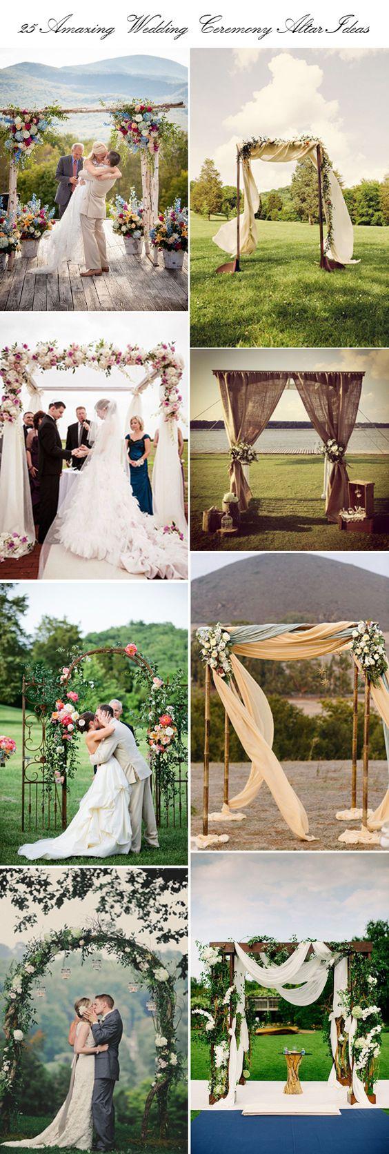 25 top wedding ceremony altar ideas