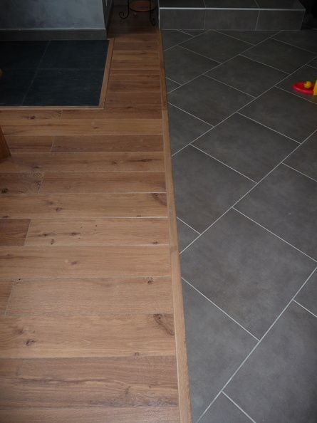 Parquet et carrelage sol pinterest for Barre de jonction parquet carrelage