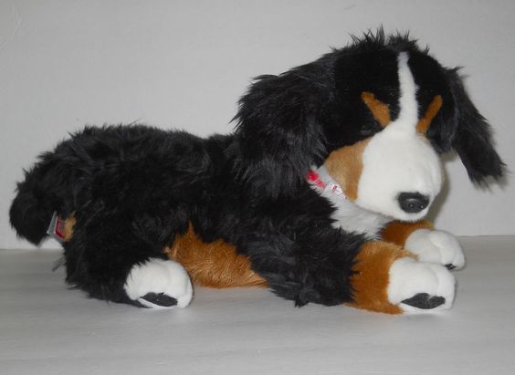 "New FAO Schwarz Bernese Mountain Dog Puppy Plush Stuffed NWT 18"" Toys R Us 2012…"