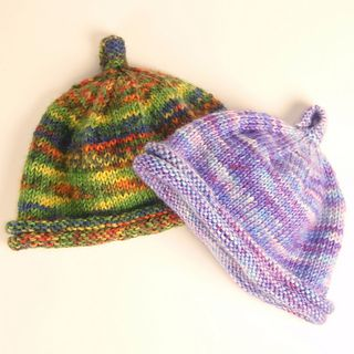 Free Knitting Patterns For Leftover Sock Yarn : Baby hat made with leftover sock yarn Knit Me Pinterest Sock Yarn, Baby...