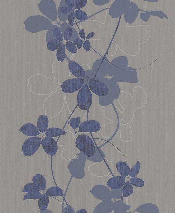 Tapete in Blau-Grau aus der Kollektion >>OPHELIA<<