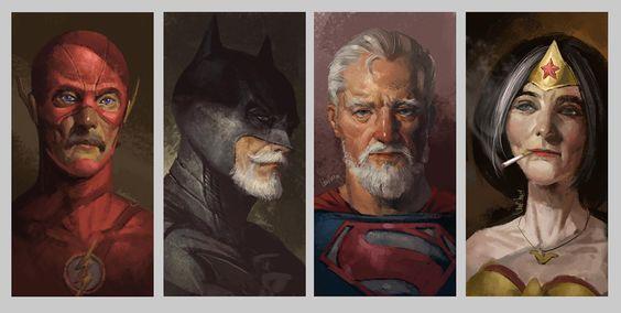 Quando os super heróis envelhecem... Getting old