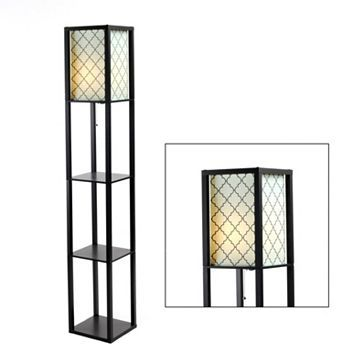 Products shelves and floors on pinterest for Kirklands floor lamp with shelves