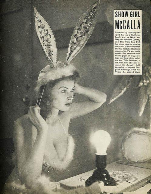 Vintage bunny easter showgirl