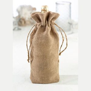 """WeddingDepot.com ~ Burlap Wine Bag - Plain ~ Cover a wine bottle in style and accent the tables with this burlap wine bag. Use it plain or get creative to make it match any event theme.  Bag measures 6.25"""" x 12""""."""